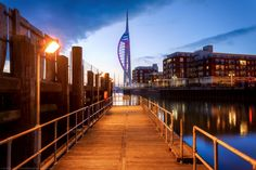 Blue Hour, Spinnaker Tower, Portsmouth, Hampshire, England by Joe Daniel Price on 500px