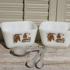 Pyrex  Early American Refrigerator Dishes Set by BeachLaneVintage, $15.00