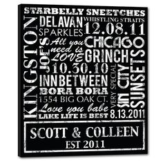 Rustic Distressed Word Word Art on Canvas This form of typography is called our Geezees Typography Elite Series. Beautiful Word Art Keepsakes