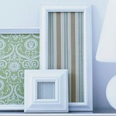 Picture frames with scrapbook paper