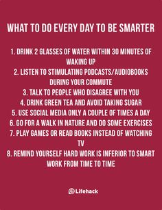 Small Things You Can Do Every Day To Be Much Smarter