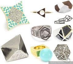 Joias estilo geométrico