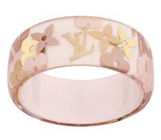 Louis Vuitton Pink Rose Gold Resin Monogram Farandole Bracelet