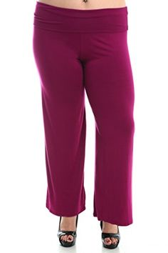 91d43b5c60375 Stylzoo Women s Plus Size Stretchy Comfy Palazzo Solid Color Pants