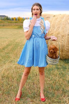 "'Toto, I've got a feeling we're not in Kansas anymore."" - Dorothy Halloween Costume from the Wizard of Oz - Awesome women's costume ideas #halloween #halloweencostume #costumeideas Dorothy Halloween Costume, Family Halloween Costumes, Top Gun Costume, Halloween This Year, Gingham Dress, Costumes For Women, New Outfits, Stylish, Pretty"
