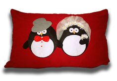 Penguin Pillow Cover Decorated With by 1tutamkece on Etsy, $20.00