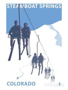 Art Print: Breckenridge, Colorado Ski Lift Art Print by Lantern Press : Colorado Winter, Winter Park, Skiing Colorado, Winter Snow, Winter Sports, Steamboat Springs Skiing, Colorado Resorts, Ski Resorts, Vintage Ski Posters