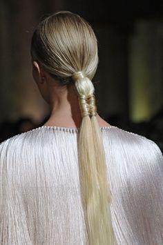 marchesa ss2012...making a basic ponytail more interesting.