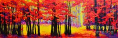 Deep Within - Enchanted Forest Collection - Modern Impressionist Landscape Art - Beautiful colorful wall art for your home decor by Patricia Awapara