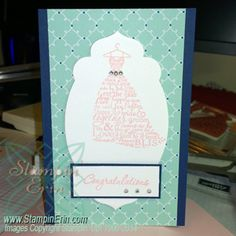 Saturday Card Sketch Challenge - 1/11/14 - Love & Laughter Engagement Card - www.StampinErin.com #stampinup #cardmaking #saturdaycardsketchchallenge #diy #handmade #homemade #crafty #creative