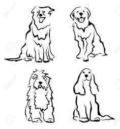 Image result for simple dog outline tattoo