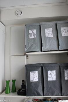 Tvättstugefix - Ett inredningsalbum på StyleRoom Home Organization, Recycling, Garage, Album, Bags, Inspiration, Carport Garage, Handbags, Biblical Inspiration