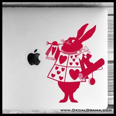 White Rabbit Herald, Alice in Wonderland-inspired Vinyl Car/Laptop Decal