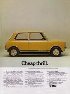 Original Mini 1275 GT Advert from 1978 - Car Ad Advertisement Austin Morris BL