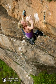 Monique Forestier attempting Some Kind of Bliss (31), Diamond Falls, Blue Mountains, Australia. Simon Carter