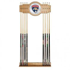 Pool Cue Rack with Mirror NHL Florida Panthers 2 Piece 8 Billiard Cue Holder #TrademarkGameroom