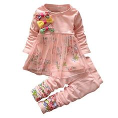 Baby Clothes Egmy Cute Toddler Baby Girls Kids Autumn Clothes Long Sleeve Princess Party Pageant Dress Size:6-7T