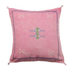 """Moroccan Cactus Silk Pillow Cover This pillow cover is handmade in Morocco. Thesize may vary 1""""- 3"""" due to the..."""