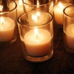 Plant-based wax votives give off the perfect lighting for any event. Sprinkle these throughout your venue for just the right ambiance. 8-hour burn time, completely covered by glass (most venues require this for safety hazards). Unscented. (Never used)