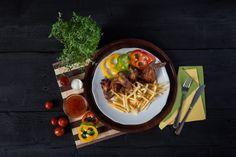 Jedlo - Kuracie krídelka s  hranolkami