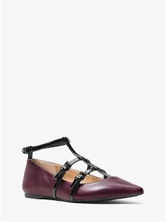 Marta Two-Tone Leather Flat