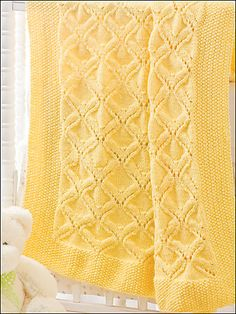I love this unique pattern crochet baby blanket. The baby blanket just simply looks adorable in this colorful yarn combination. And I love the wave pattern where it reminds me of a rainbow promises (waves) over your baby! Baby Knitting Patterns, Free Baby Blanket Patterns, Baby Patterns, Free Knitting, Knitted Afghans, Knitted Baby Blankets, Baby Blanket Crochet, Crochet Baby, Baby Angel Wings