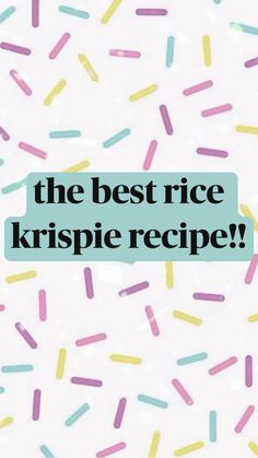 Snack Recipes, Baking Recipes, Sweet Recipes, Dessert Recipes, Desserts To Make, Delicious Desserts, Food To Make, Yummy Food, Best Rice Krispie Recipe