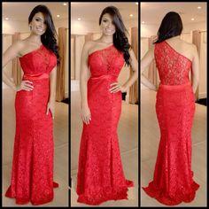 Red Prom Dress,Lace Prom Dress,Sheath Prom Dress,Fashion Prom