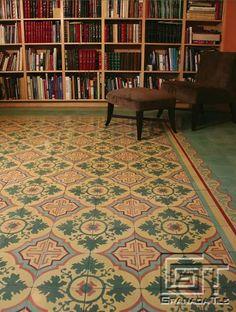 El diseño Venezia de Granada Tile toma lugar en el centro de una oficina familiar