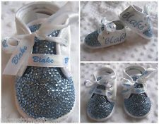 BABY BOYS CUSTOMISED BLING CRYSTAL GYPSY ROMANY CHRISTENING SHOE BOOT 6-12 MONTH £24.95