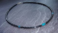 Silver necklace male 925 JASPIS ROYAL & HEMATITE by MiTTiNaturals