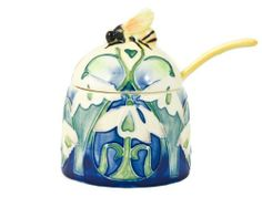 Old Tupton Ware-Snowdrop Floral Ceramic Bee Honey Pot by Old Tupton Ware. $23.98. A Delicately Designed Honey Pot And Spoon. Wonderful Honey Bee Handle With Floral Snowdrop Decoration On The Side And On The Spoon. Beautifully Hand Painted Raised Design.Brand New In Gift Box.Designed By Old Tupton Wareheight: 10Cm (4 Inches)Width: 7Cm (2 3/4 Inches)Spoon Handle: 7.5Cm (3 Inches). Save 19%!