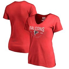 7486a7897 NFL Pro Line by Fanatics Branded Atlanta Falcons Women s Red Live For It  Tri-Blend V-Neck T-Shirt. Plus Size ...
