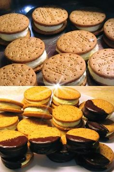 Cookbook Recipes, Sweets Recipes, Cooking Recipes, Desserts, Cream Recipes, Sorbet, Gelato, Sandwiches, Food And Drink