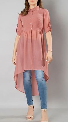 Valentine's Day Clothing 2020 - Girls Fashion Dresses Sale, Offers, Discounts On. Stylish Dresses For Girls, Stylish Dress Designs, Designs For Dresses, Stylish Kurtis Design, Girls Dresses Sewing, Indian Fashion Dresses, Indian Designer Outfits, Fashion Outfits, Kurta Designs Women
