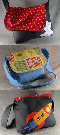 DIY kids messenger bag