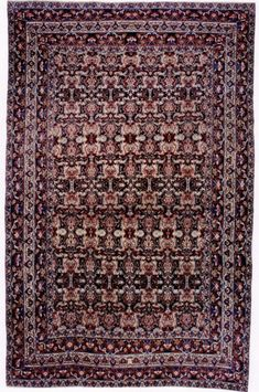 "LAVAR KERMAN (SOUTHEAST PERSIA), CIRCA 1885  Dimensions: 10' 4"" x 15' 10""  Stock Number: 2405  from BEAUVAISCARPETS"