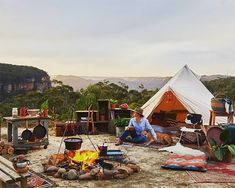 The Ultimate Bell Tent Buying Guide. Investing in a bell tent is a big decision. It's worth doing your home work to ensure a canvas bell tent is the right tent for you and that the size and model you choose is right for you. Backyard Camping, Go Camping, Camping Hacks, Outdoor Camping, Camping Ideas, Campsite, Luxury Camping, Camping Supplies, Camping Activities