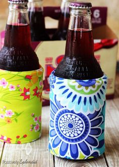 Easy Sewing Projects to Sell - DIY Insulated Beverage Holders (Koozies) - DIY Sewing Ideas for Your Craft Business. Make Money with these Simple Gift Ideas, Free Patterns, Products from Fabric Scraps, Cute Kids Tutorials diyjoy.com/...