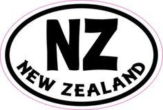 Oval NZ New Zealand sticker