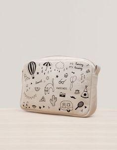 Print cosmetics bag