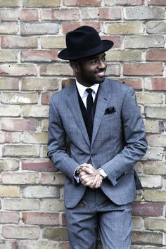 Grey is a transeasonal neutral colour, making it versatile for most occasions, which is why I love wearing this TM Lewin suit. Tm Lewin, Wearing A Hat, Sharp Dressed Man, Gentleman Style, British Style, Stylish Men, Cool Suits, Hats For Men, Men Dress