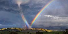 Taken in Arizona USA. A meteorologists don't have a name for it. Seems to be high energy to be in a Rainbow and a tornado! ""