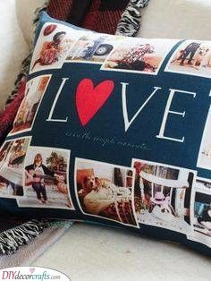 Turn your photos into home decor with custom pillows! Our pillows add a cozy, personalized touch that you'll LOVE. Surprise Your Girlfriend, Present For Girlfriend, Birthday Gifts For Girlfriend, 30th Birthday Presents, Cute Birthday Gift, Diy Pillow Covers, Pillow Cover Design, Tinta Spray, Great Anniversary Gifts