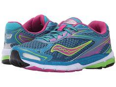 607eb9ab05b1 Saucony Kids Girls Ride 8 Turquoise Running Shoe Kids Sneakers