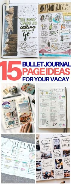 These travel bullet journal ideas are EXACTLY what I needed to help me plan my next vacation! Packing list, trip itinerary, and scrapbooking pages to remember your trip. So inspiring!