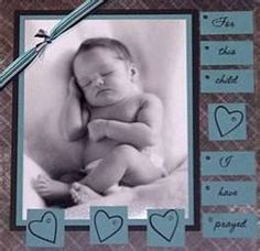 Baby boy scrap booking idea!