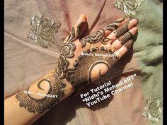 Buy Henna Mehndi Uk : Stunning leaf leaves gulf style henna mehndi design tutorial for
