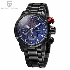 81.15$  Buy now - http://aliz3o.worldwells.pw/go.php?t=32677892952 - 2016 Direct Selling Pagani Design Watches Men Luxury Brand Waterproof Quartz Watch Sports Stainless Steel Relogio Masculino