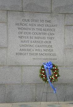 National World War II Memorial President Harry S. Truman Quote